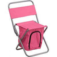 Flash Furniture Folding Camping Chair with Insulated Storage in Pink FHFTY1262PKGG