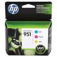 HP 951, (CR314FN) 3-pack Cyan/Magenta/Yellow Original Ink Cartridges HEWCR314FN