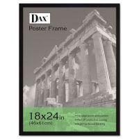 DAX Flat Face Wood Poster Frame, Clear Plastic Window, 18 x 24, Black Border DAX2860W2X
