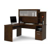 Bestar Dayton by Bestar L-Shaped desk in Chocolate BESBES8842069