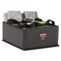 Rubbermaid Commercial Executive Quick Cart Caddy, Large, Dark Gray RCP1902468CT