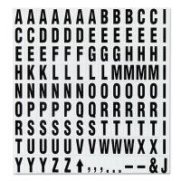 "Quartet Magnetic Characters, Magnetic, Black, 3/4""h, 120/Set QRTML"