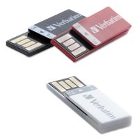 Verbatim Clip-it USB 2.0 Flash Drive, 8GB, Black/Red/White, 3/Pack VER98674