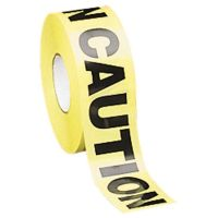 Tatco Caution Barricade Safety Tape, Yellow, 3w x 1000ft Roll TCO10700