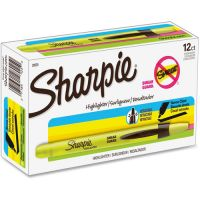 Sharpie Accent Retractable Highlighters, Chisel Tip, Fluorescent Yellow, Dozen SAN28025