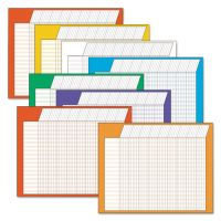 TREND Horizontal Incentive Chart Pack, 28w x 22h, Assorted Colors, 8/Pack TEPT73902