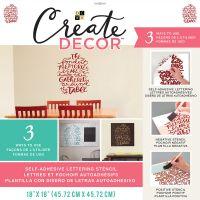 "DCWV Create Decor Self-Adhesive Lettering & Stencil 18""X18"" NOTM539822"