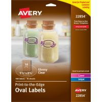 Avery&reg Easy Peel Glossy Clear Labels AVE22854