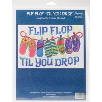 Flip Flop Til You Drop Counted Cross Stitch Kit NOTM052670