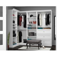 Bestar Versatile by Bestar 90'' Corner kit in White BESBES4085417