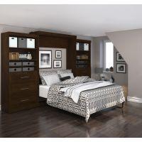 """Bestar Pur by Bestar 136"""" Queen Wall bed kit in Chocolate BESBES2688669"""