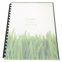 Swingline GBC 100% Recycled Poly Binding Cover, 11 x 8-1/2, Frost, 25/Pack SWI25817