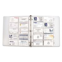 C-Line Business Card Binder Pages, Holds 20 Cards, 8 1/8 x 11 1/4, Clear, 10/Pack CLI61217
