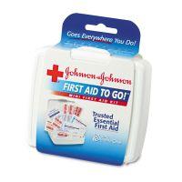 Johnson & Johnson Red Cross Mini First Aid To Go Kit, 12-Pieces, Plastic Case JOJ8295