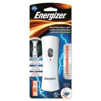 Energizer Rechargeable LED Flashlight, 1 NiMH, Silver/Gray EVERCL1NM2WR