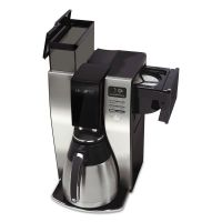 Mr. Coffee Optimal Brew 10-Cup Thermal Programmable Coffeemaker, Black/Brushed Silver MFEBVMCPSTX91