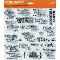 """Fiskars Quote Clear Stamps 8""""X8"""" Sheet NOTM430387"""