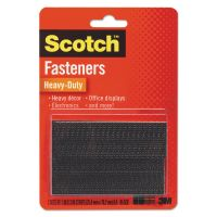 "Scotch Hook and Loop Fastener Tape, 1"" x 3"", two sets, Black MMMRFD7091"