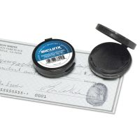 "SICURIX Fingerprint Ink Pad, 1 1/2"" Diameter, Black BAU38010"