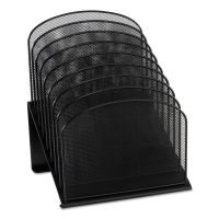 Safco Mesh Desk Organizer, Eight Sections, Steel, 11 1/4 x 10 7/8 x 13 3/4, Black SAF3258BL