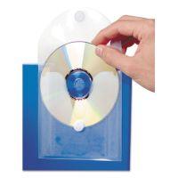 Baumgartens CD Pocket, Clear/White, 5/Pack BAU61801