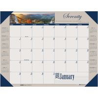 House of Doolittle Recycled Motivational Photographic Monthly Desk Pad Calendar, 22 x 17, 2018 HOD175