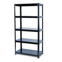 Safco Boltless Steel Shelving, Five-Shelf, 36w x 18d x 72h, Black SAF5245BL