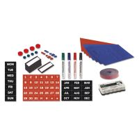 MasterVision Magnetic Board Accessory Kit, Blue/Red BVCKT1416
