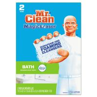 "Mr. Clean Magic Eraser Bathroom Scrubber, 4 1/2"" X 3 1/5"", 2/Box PGC84552"