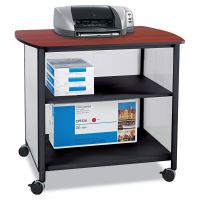 Safco Impromptu Deluxe Machine Stand, 34-3/4w x 25-1/2d x 31h, Black/Cherry SAF1858BL