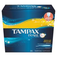 Tampax Pearl Tampons, Regular, 36/Box, 12 Box/Carton PGC71127
