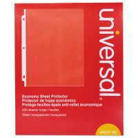 Universal Standard Sheet Protector, Letter, Economy, Clear, 200/Box UNV21123