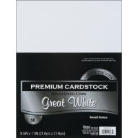 Core'dinations Premium Smooth Great White Cardstock  NOTM239363