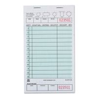 """Royal Guest Check Book, Two-Part Carbonless, 4 1/5"""" x 7 3/4"""", 1/Pages, 2000 Forms RPPGC47972B"""