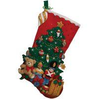 Under The Tree Stocking Felt Applique Kit NOTM050642