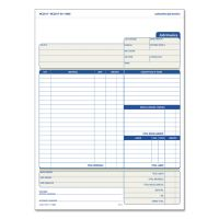 TOPS Snap-Off Job Invoice Form, 8 1/2 x 11 5/8, Three-Part Carbonless, 50 Forms TOP3866