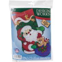Starlight Santa Stocking Felt Applique Kit NOTM261617