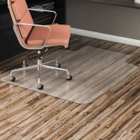 Alera All Day Use Non-Studded Chair Mat for Hard Floors, 36 x 48, Lipped, Clear ALEMAT3648HFL