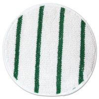 "Rubbermaid Commercial Low Profile Scrub-Strip Carpet Bonnet, 17"" Diameter, White/Green RCPP267"