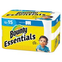 Bounty Essentials Select-A-Size Paper Towels, 11 x 5.9, 2-Ply, White, 78 Sheets/Roll, 12 Rolls/Carton PGC75720