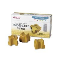 Xerox 108R00725 Solid Ink Stick, 3400 Page-Yield, 3/Box, Yellow XER108R00725