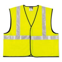 MCR Safety Class 2 Safety Vest, Lime Green w/Silver Stripe, Polyester, 4X-Large RVRVCL2SLX4