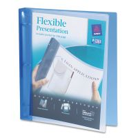 "Avery Flexible Round Ring Binder, 11 x 8 1/2, 1"" Capacity, Blue AVE17675"