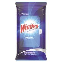 Windex Glass & Surface Wet Wipe, Cloth, 7 x 10, 28/Pack SJN642513EA