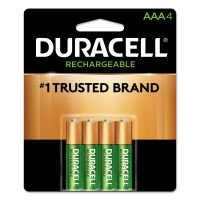 Duracell Rechargeable StayCharged NiMH Batteries, AAA, 4/PK DURNLAAA4BCD