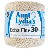 Aunt Lydia's Extra Fine 30 Crochet Thread - Natural (226) NOTM295402
