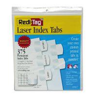 Redi-Tag Laser Printable Index Tabs, 1 1/8 x 1 1/4, White, 375/Pack RTG39017