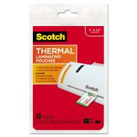 Scotch Business Card Size Thermal Laminating Pouches, 5 mil, 3 3/4 x 2 3/8, 20/Pack MMMTP585120