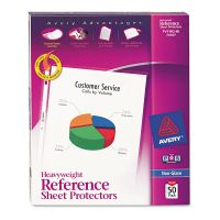 Avery Top-Load Poly Sheet Protectors, Letter, Heavy Gauge, Nonglare, Clear, 50/Box AVE74107