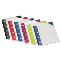 Oxford Retractable Binder Pocket, 1/4 x 9, Assorted Colors, 6/Pack OXF14360